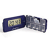 Super 8 Pill Organiser with Multiple Alarms