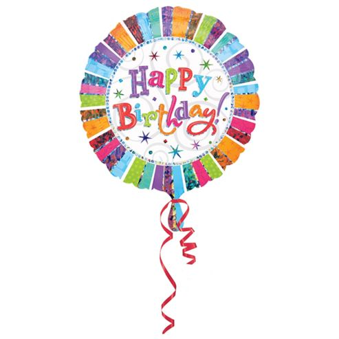 Radiant Birthday Balloon