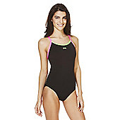 Zoggs Tri Colour Swimsuit - Black
