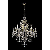 United Lights Fall 12 Light Chandelier - Antique Brass