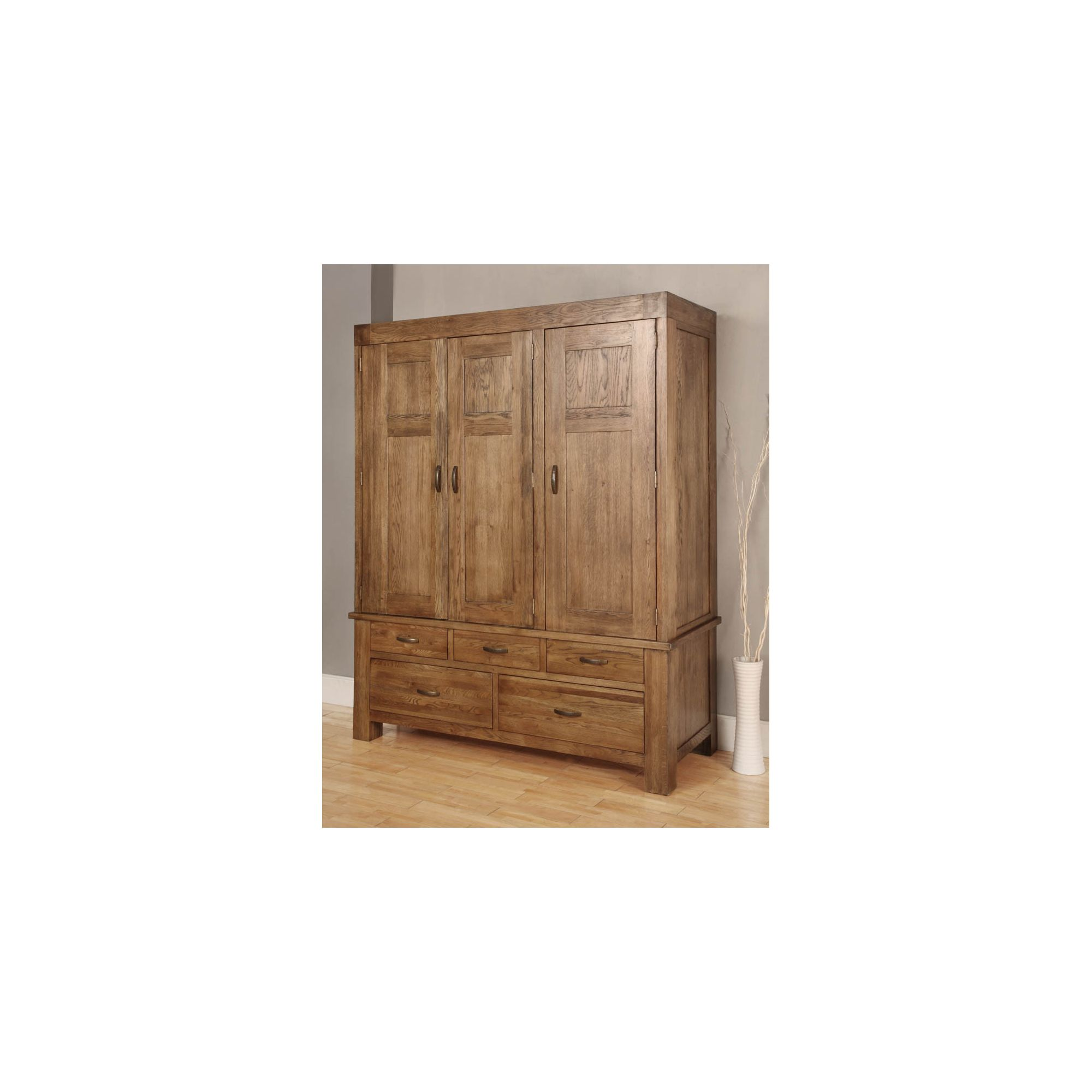 Hawkshead Santana Triple Wardrobe in Rich Patina at Tesco Direct