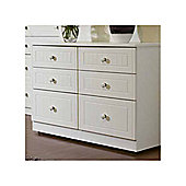 Welcome Furniture Coniston 6 Drawer Midi Chest - White