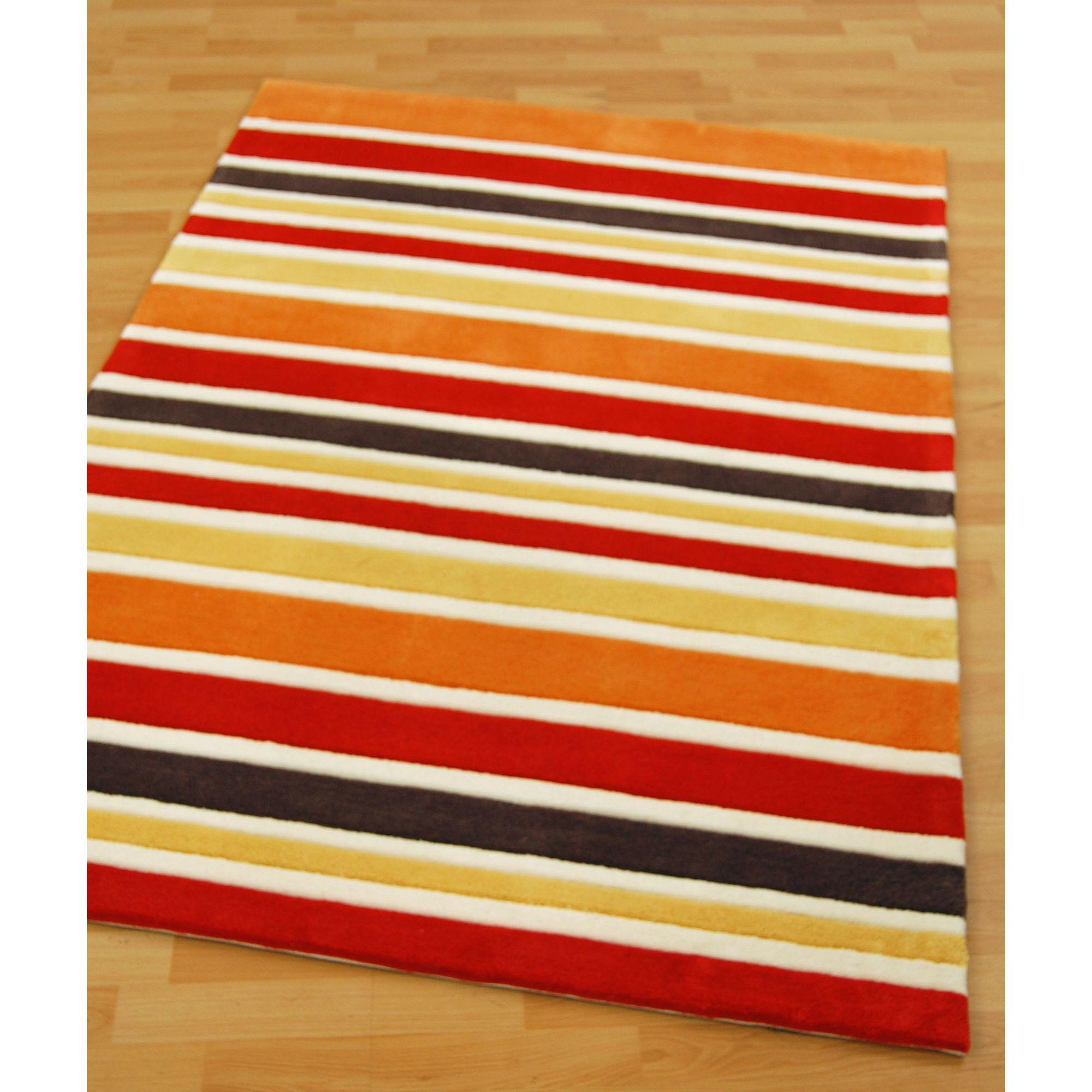 Other Origin Red Rainbow Orange Rug - 170cm x 120cm