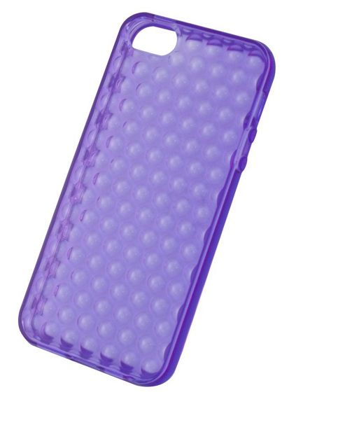 Tortoise™ Soft Gel Case iPhone 5 Raindrop Purple