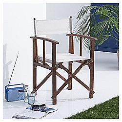 Garden Directors Chair, Cream