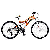 "Saxon Drift 24"" Dual Suspension Mountain Bike, 14"" Frame"