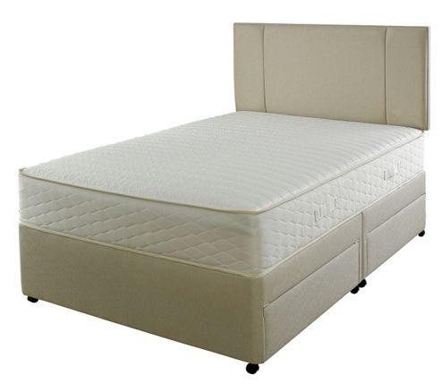 Buy slumberland 700 pocketflex 2 drawer divan single from for Single two drawer divan bed