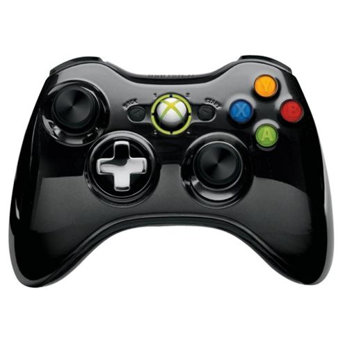 Xbox 360 Wireless Controller - Chrome (Black)