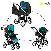 Hauck Malibu XL All-In-One Travel System, Stone/Aqua