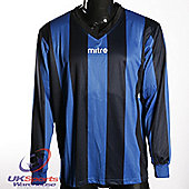 Mitre Moco DryCool Long Sleeved Football Shirt Jersey Blue/Black - Black & Blue