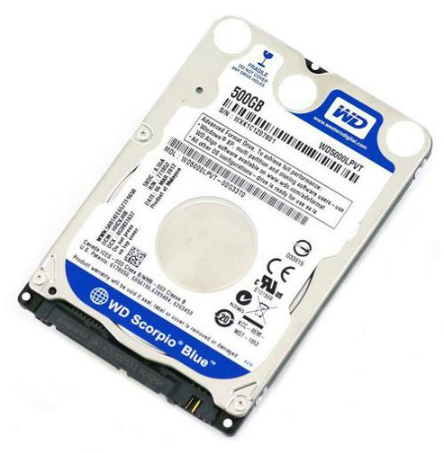 WESTERN DIGITAL - WD 500GB SCORPIO BLUE 2.5 INCH 5400RPM 8MB SATA 3Gb/SEC INTERNAL HDD