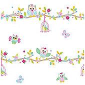 Patchwork Owl Wallpaper 10m - Exclusive Design