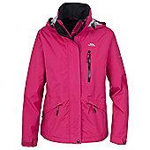 Trespass Ladies Numbered Waterproof Jacket - Pink