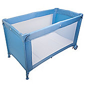 Safetots Sleep and Go Travel Cot Blue with Deluxe Mattress