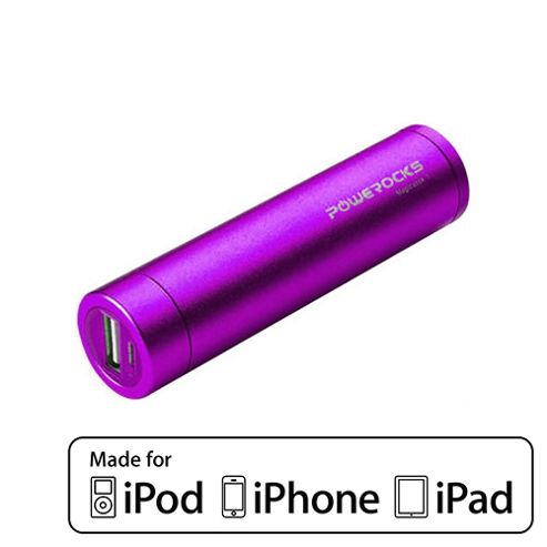 Powerocks Portable Battery Charger For iPhone 2800mAh Purple by Cleverboxes