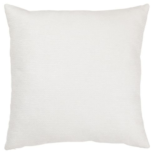 Texture Chenille Cushion White Large