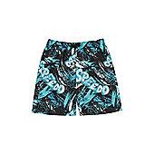 Speedo Tropical Print Swim Shorts - Blue & Black