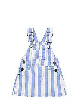 Charlie & Me Striped Denim Pinafore - Blue & White