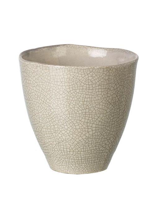 buy parlane ceramic crackle grey flower plant pot 13 5. Black Bedroom Furniture Sets. Home Design Ideas