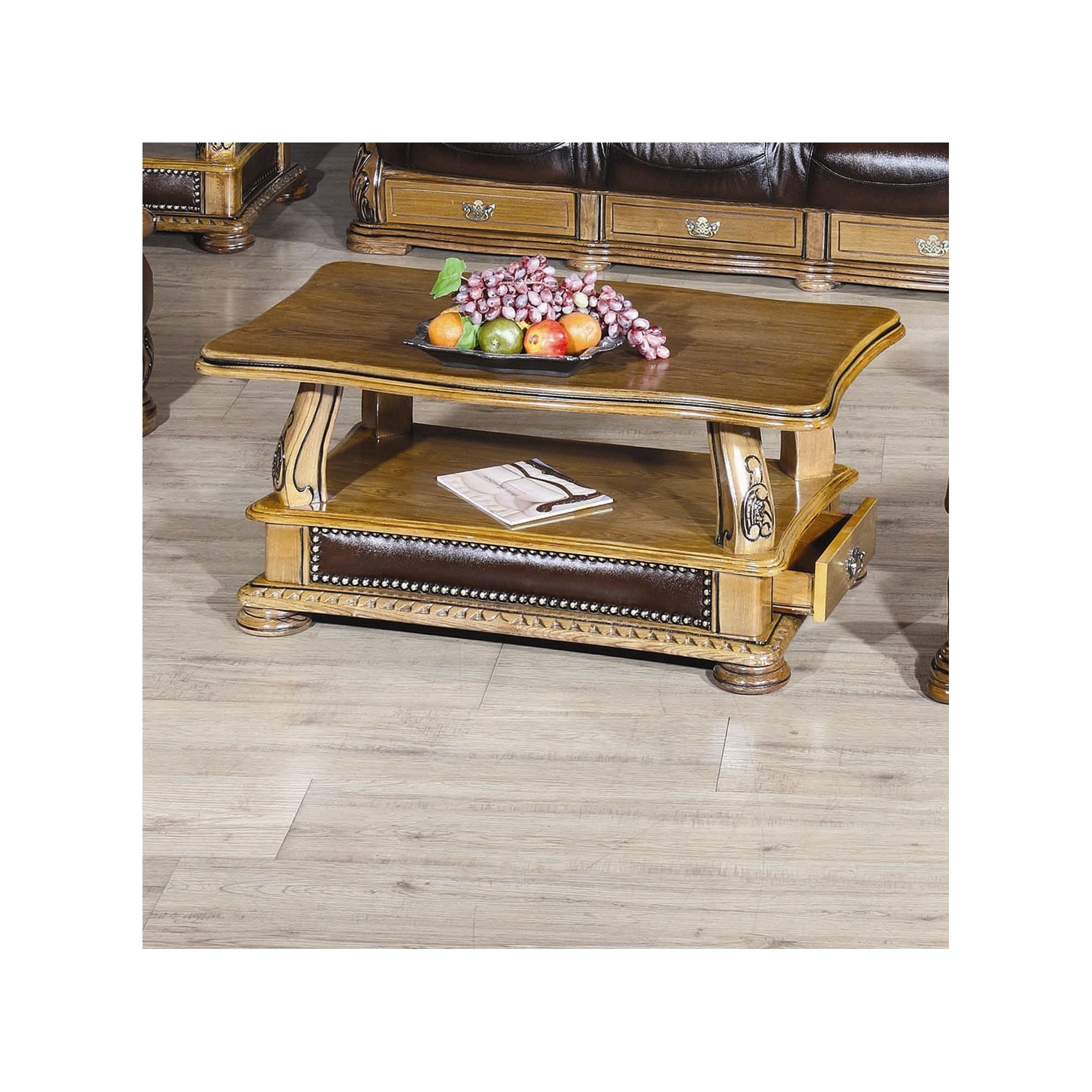JPL Furniture Figaro Coffee Table - Brown at Tesco Direct