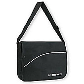 Head Adults Record Bag Black Adjustable Shoulder Strap Embossed Logo