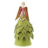 Red & Green Fairy Christmas Tree Topper