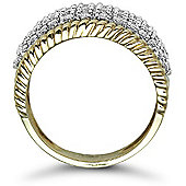 Jewelco London 9 Carat Yellow Gold 1ct Bombay Ring