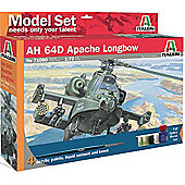 Italeri Ah 64D Apache Longbow Helicopter Ms71080 1:72 Aircraft Model Set