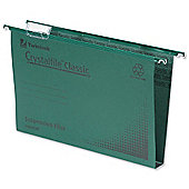 Rexel Crystalfile Classic Suspension File Manilla 30mm A4 Green Ref 70621 [Pack 50]