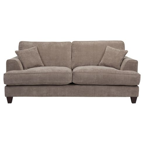 Kensington Fabric Large 3 Seater Sofa Grey
