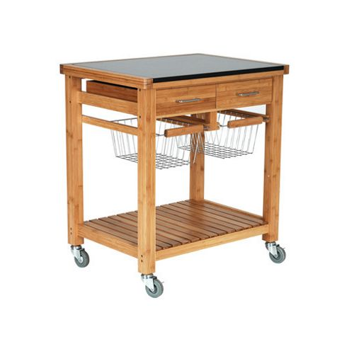 Ethos Lotus Bamboo Kitchen Trolley with Granite Top