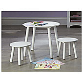 Tesco Kids Furniture - Kids Table & Stools Set In White