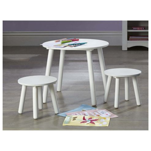 Buy Tesco Kids Furniture Kids Table Stools Set In White From Our Kids 39 Desks Tables Range