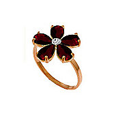 QP Jewellers Diamond & Garnet Foliole Ring in 14K Rose Gold