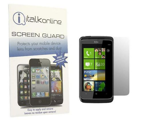 iTALKonline S-Protect LCD Screen Protector and Micro Fibre Cleaning Cloth For - HTC Trophy