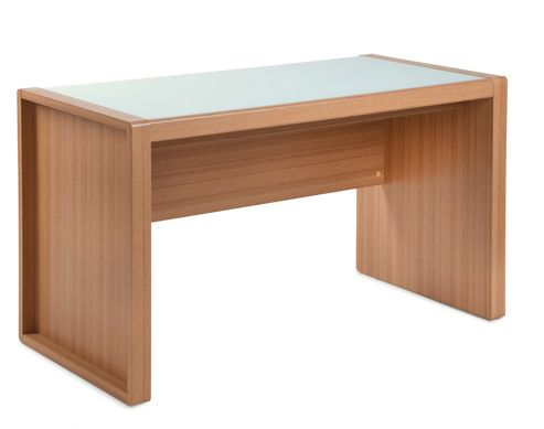 Buy rio home office workstation in teak from our office desks tables range tesco - Tesco office desk ...