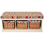 Spots & Stripes Storage Bench