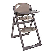 BabyMoov Light Wood High Chair - Taupe