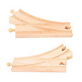 Bigjigs Rail BJT107 Curved Points (Pack of 2)