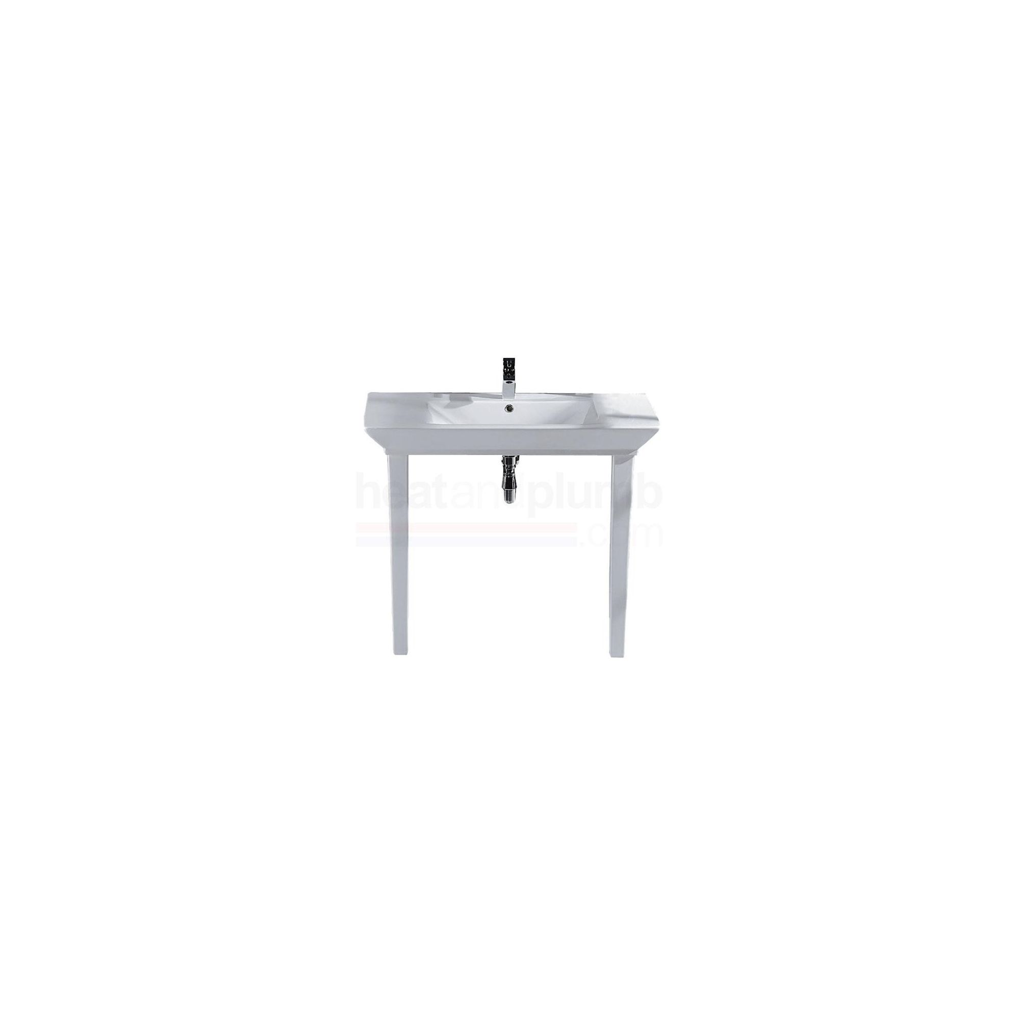 RAK Opulence White 'His' 1 Piece Countertop Basin with Legs 1000mm Wide at Tesco Direct