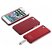 Magnetic Battery Case for iPhone 5 2,800mAh Red Bulk