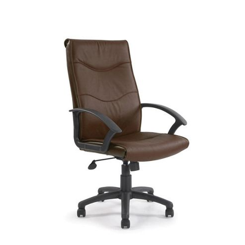 Eliza Tinsley High back leather faced executive armchair - Brown