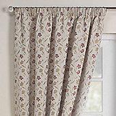 Rectella Mia Autumn Luxury Jacqaurd Pencil Pleat Curtains -168x137cm