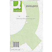 Q-Connect Envelope C5 100gsm Plain Peel and Seal White Pack of 500 1P08