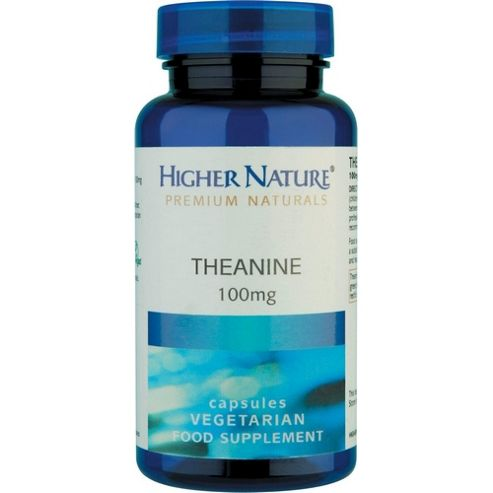 Higher Nature Theanine 100mg 30 Veg Capsules