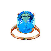 QP Jewellers 8.0ct Blue Topaz Valiant Ring in 14K Rose Gold