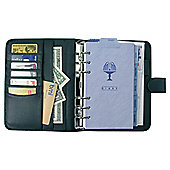 Collins Chatsworth A5 Personal Organiser, Leather Effect, Black