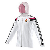 2014-15 Real Madrid Adidas Anthem Jacket (White) - White