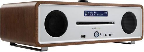 RUARK AUDIO R4i CD DAB/DAB+/FM RADIO WITH iPOD DOCK (WALNUT)
