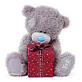 Me to YouTatty Teddy bear holding Present Gift Box